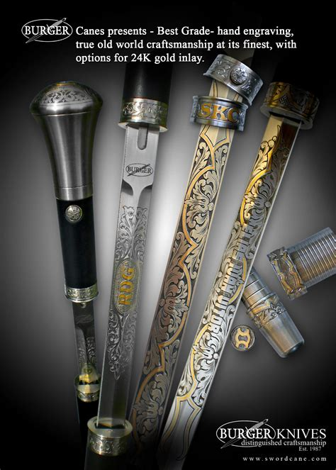 custom sword canes welcome to the official web site of burger sword canes