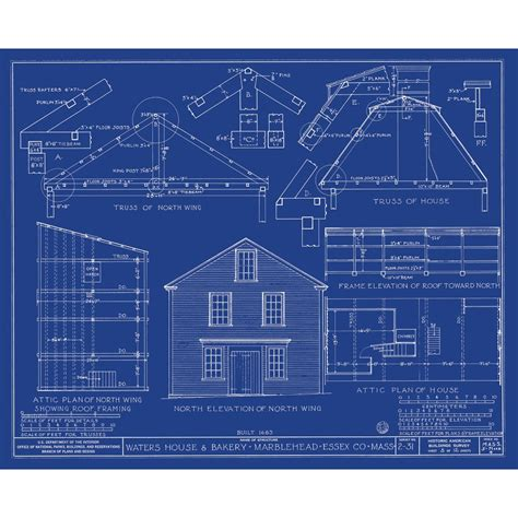 Blueprints House architecture blueprints modern house
