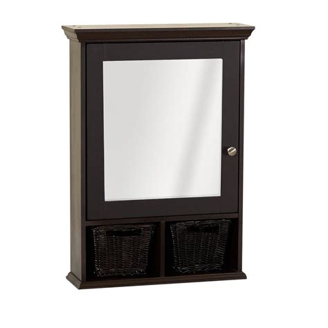 medicine cabinet with wicker baskets medicine cabinet with wicker baskets espresso zenith