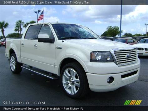 2008 ford f150 limited white sand tri coat 2008 ford f150 limited supercrew
