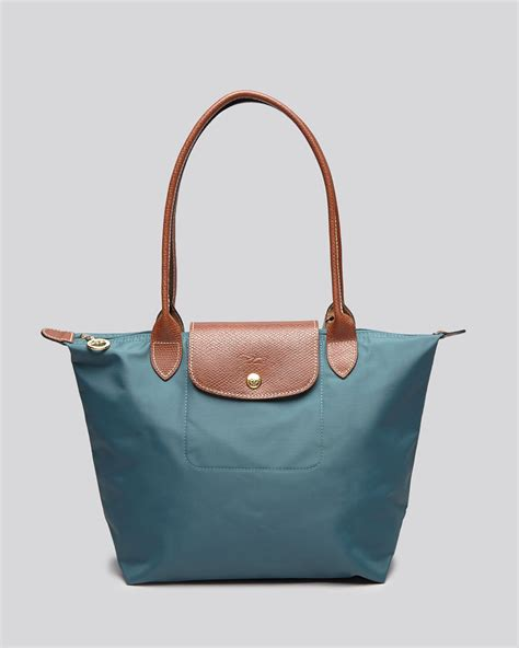 Le Pliage Green Msh lyst longch le pliage medium shoulder tote in green