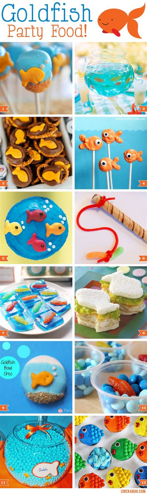 goldfish themes goldfish party food ideas goldfish party and goldfish