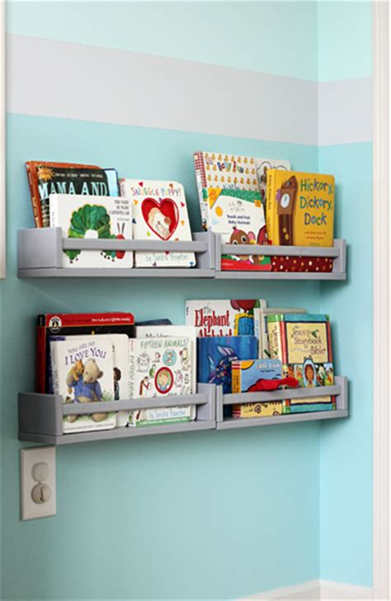 ikea spice rack turned kids bookshelves decor hacks