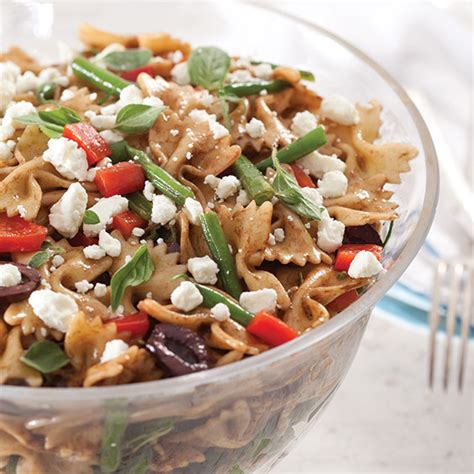 bow tie pasta salad with goat cheese paula deen magazine
