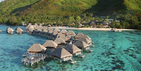 south pacific overwater bungalows moorea lagoon resort and spa overwater bungalows