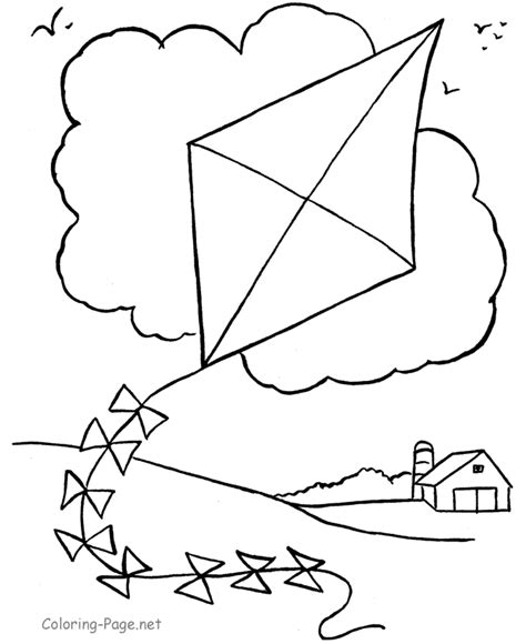 kite coloring pages preschool kite color pages coloring home