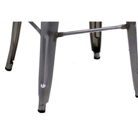 sgabelli ferro vintage set 4 sgabelli in metallo galvanizzato