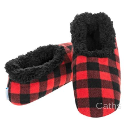 snoozies mens slippers snoozies mens plaid sherpa fleece lined slipper foot