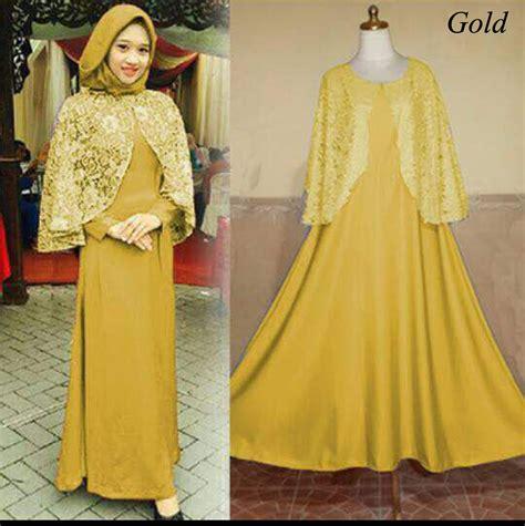 baju gamis pesta warna emas terbaru ashanti baju gamis