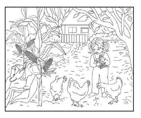 autumn farm coloring page landscape coloring pages of farm in autumn season coloring
