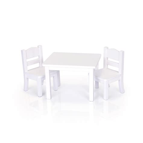 guidecraft table and chair set guidecraft doll table and chair set white g98122