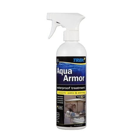 trek7 aqua armor 16 oz fabric waterproofing spray for