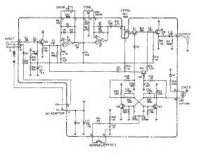 sd 1 overdrive guitar pedal schematic diagram