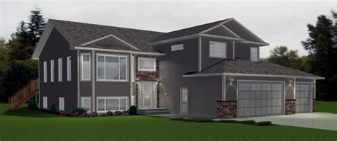 bi level house plans with attached garage bi level garage additions modified bi level with 3 car garage this home is shown with clean