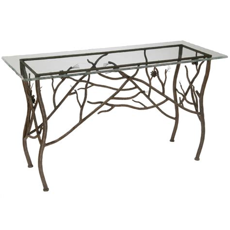 Iron Console Table Rustic Pine Console Table