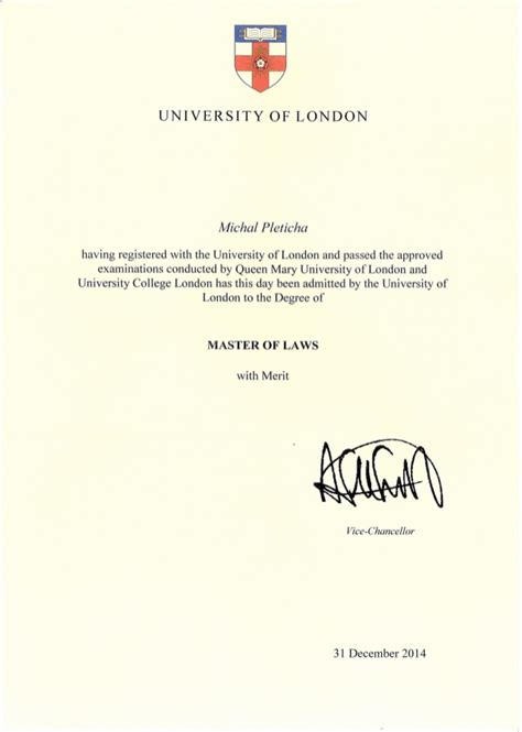 Uol Mba by Diploma Master Of Laws Ll M