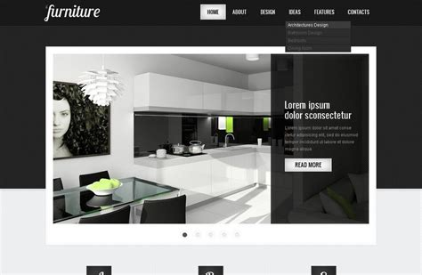 furniture website template   interior design