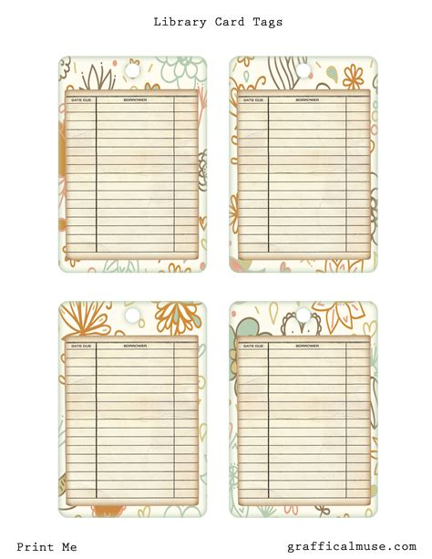 printable library cards template 7 best images of free printable vintage library cards