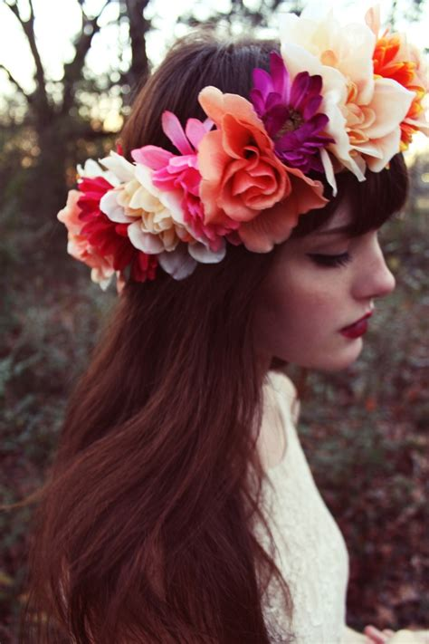 flower headband hairstyles tumblr beautiful flower crowns for a prettier look pretty designs