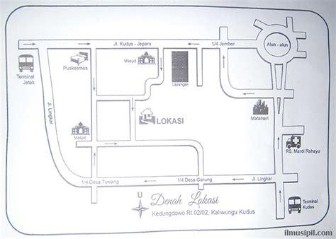 contoh peta denah lokasi undangan pernikahan ilmusipil