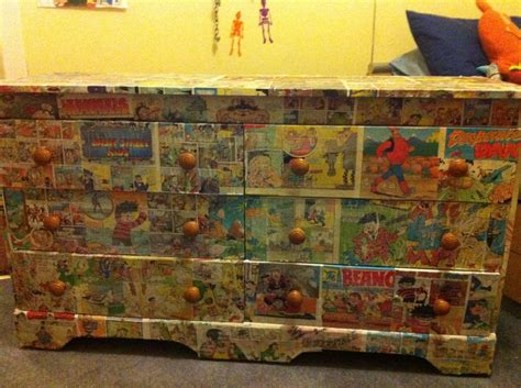 decoupage beano and dandy comic drawers decoupage