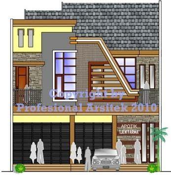 desain apotek minimalis arsitek profesional jasa desain gambar rumah minimalis