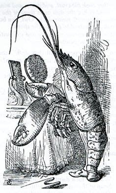the voice lobster hair john tenniel alice fighting the dragon falling down