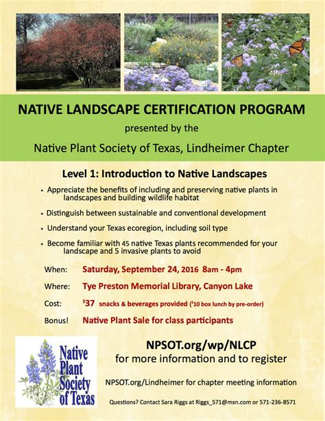 native landscape certification program lindheimer
