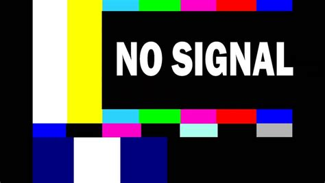 Bedroom Tv No Signal The End Vintage Ending Title Stock Footage
