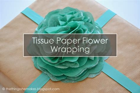 How To Make A From Tissue Paper - how to make tissue paper flowers the things she makes