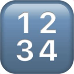 input numbers emoji (u+1f522)