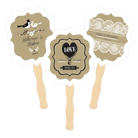 cheap fans for wedding personalized paddle fans vintage wedding