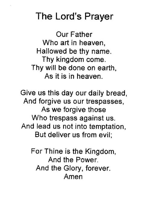 printable version of the lord s prayer 116 best the lords prayer images on pinterest