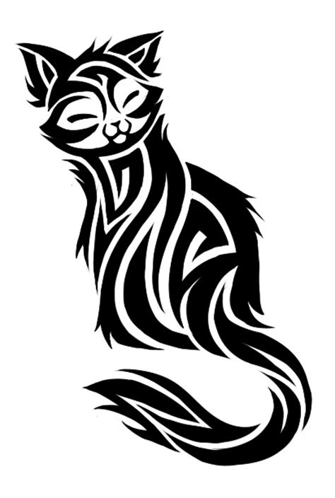 cat tribal tattoos 10 awesome tribal cat tattoos only tribal
