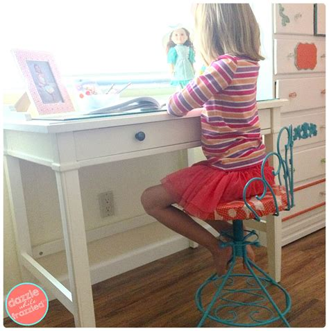 A Vintage Vanity by Updating A Vintage Vanity Chair To Use For Child S Desk