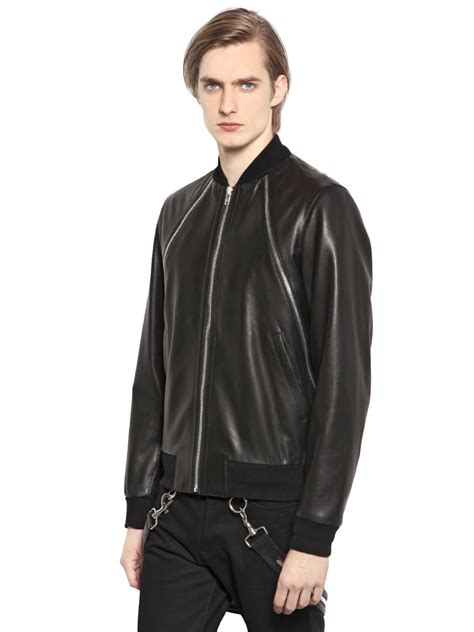 givenchy leather jacket givenchy nappa leather jacket in black for lyst