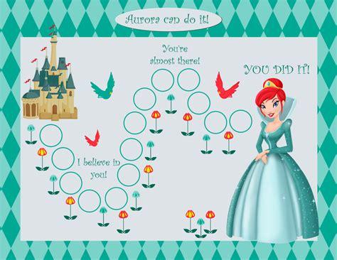printable reward charts disney printable personalized kids incentive chore chart princess