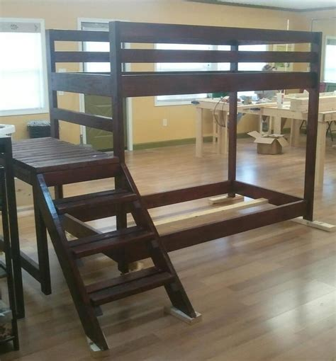 custom loft  bunk bed  stairs  wholly craft