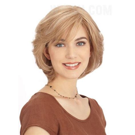 easy to care for shaggy hairstyles short straight shaggy side bang bob haircut synthetic hair