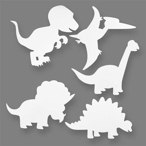 Dino Cut dinosaur card cut outs pack of 16 colour me in kits pre printed crafts to colour in from