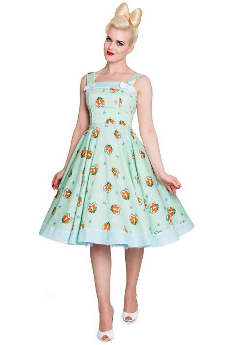 marke swing kleider hell bunny foxy polka dots 50s retro swing kleid
