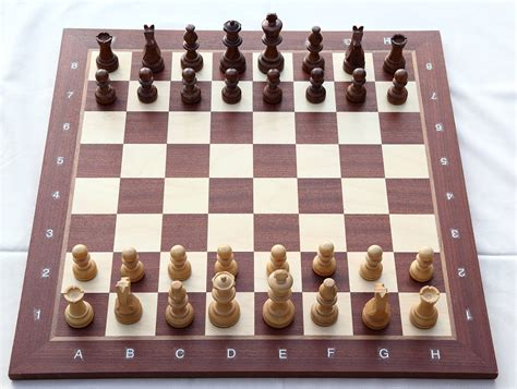 Coolest Chess Sets File Chess Board With Chess Set In Opening Position 2012