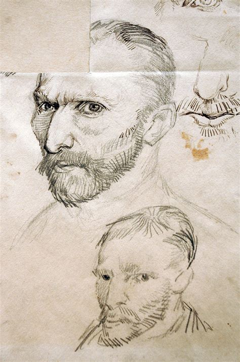 Sketches Gogh by Vincent Gogh Self Portrait Sketches I His