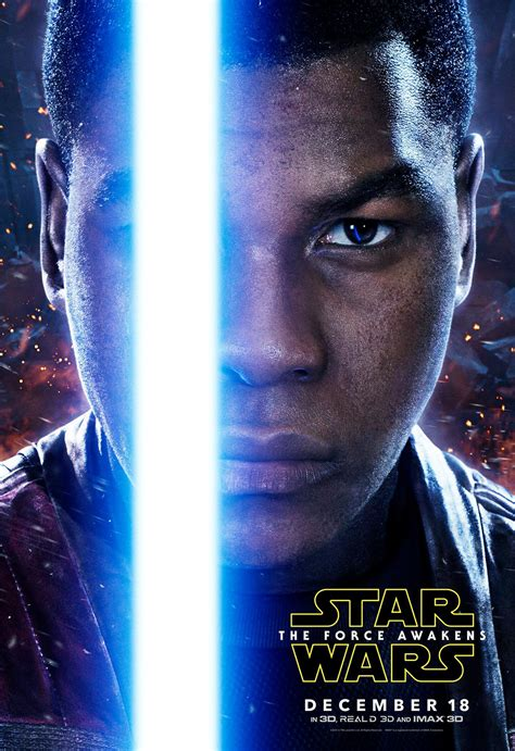 star wars the force get up close and personal with these 5 new character posters for star wars the force awakens