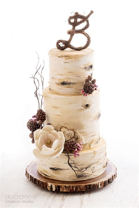 Hochzeitstorte Baum by Birch Tree Wedding Cake De La Cr 232 Me Creative Studio