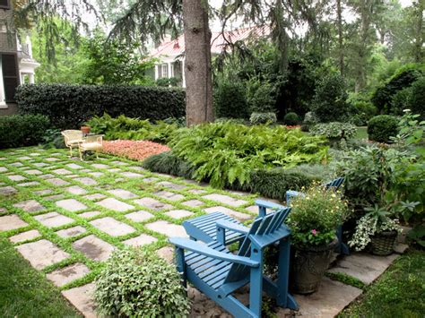 houzz landscaping backyard stone terrace with chairs traditional landscape