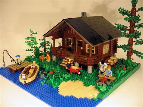lego log cabin lego ideas log cabin two seasons