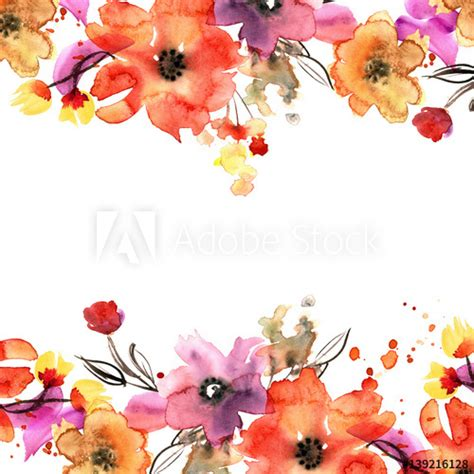 pretty painted floors with flower designs cute watercolor hand painted floral background