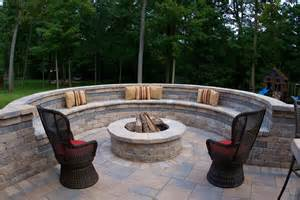 Firepit Seating Cinder Block Pit Inexpensive And Attractive Ideas