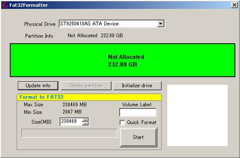 format fat32 not available how to format a large hard drive with either fat or fat32